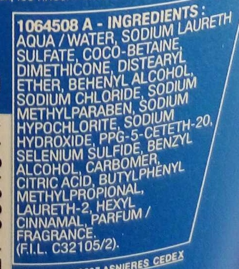 Elseve Antipelliculaire Selenium S actif shampooing traitant - Ingrédients