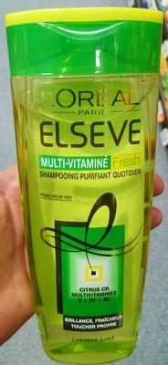 Elseve Multi-Vitaminé Fresh Shampooing purifiant quotidien - Product - fr