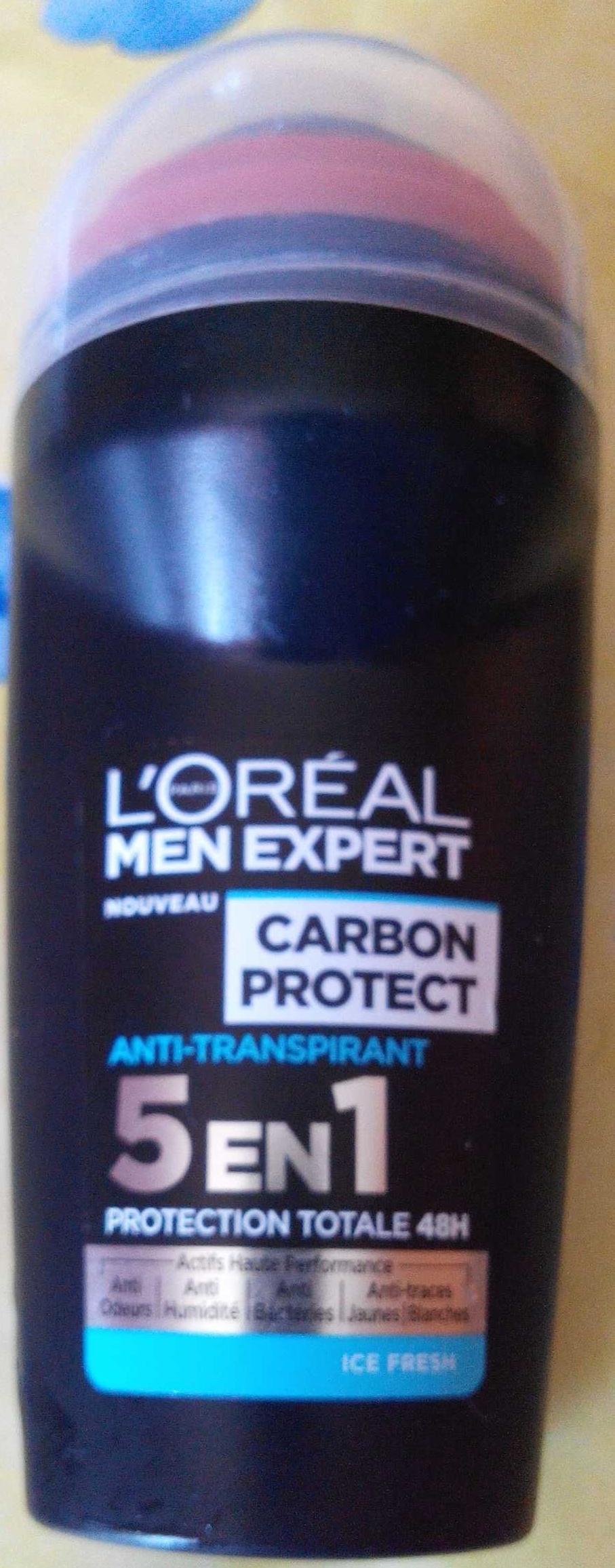 Carbon protect Anti-transpirant 5 en 1 Ice fresh - Produit