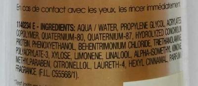 Elnett Satin - Ingredients - fr