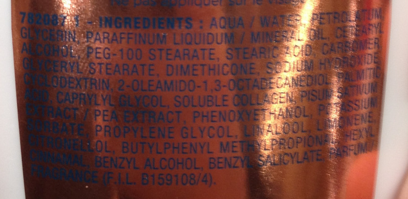 Sublime Body Nutrition Royale Lait fondant hydratant - Ingredients - fr