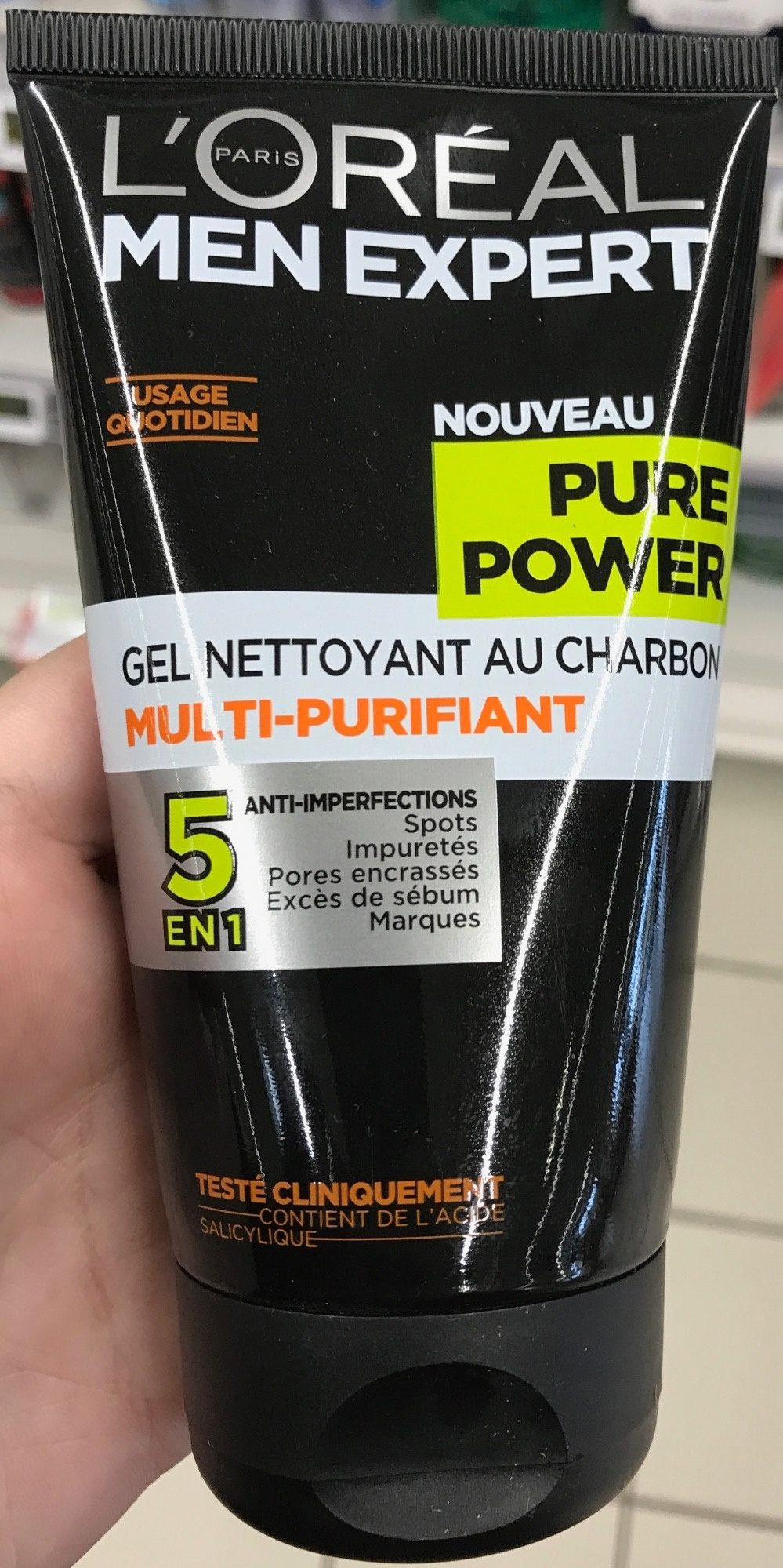 Gel nettoyant au charbon multi-purifiant Pure Power 5 en 1 - Produit