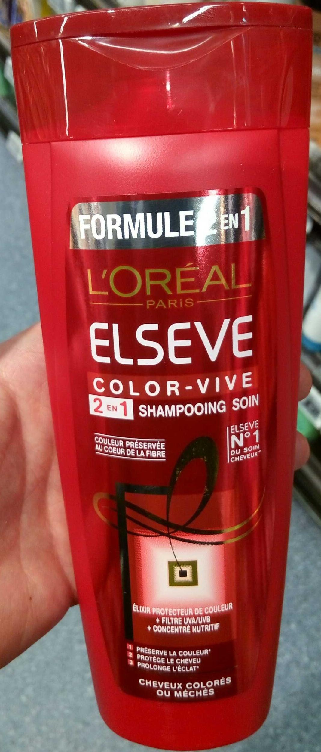 Formule 2 en 1 Elseve Color-Vive Shampooing soin - Product - fr