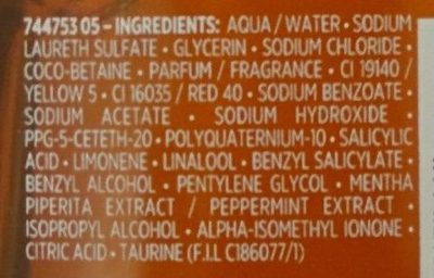 - Ingredients