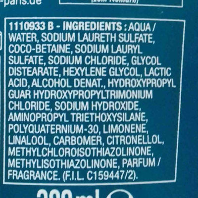 elvital fibralogy - Ingredients