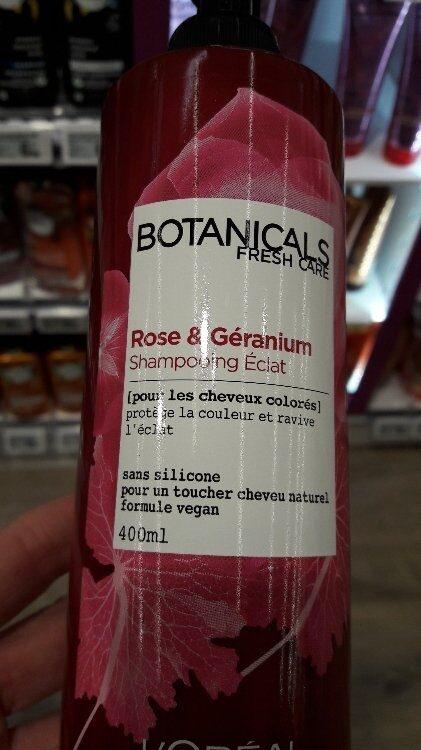 Rose & Géranium Shampooing Eclat - Produit - fr