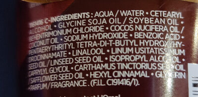 L'OREAL botanicals fresh care safflower rich infusion conditioning balm - Ingrédients - en