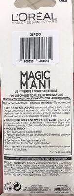 Magic Mani Vernis en feutre Red 401 - 1