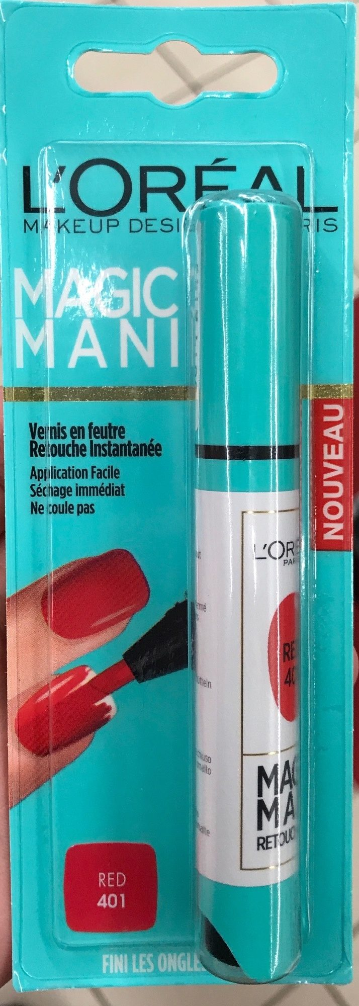 Magic Mani Vernis en feutre Red 401 - Product