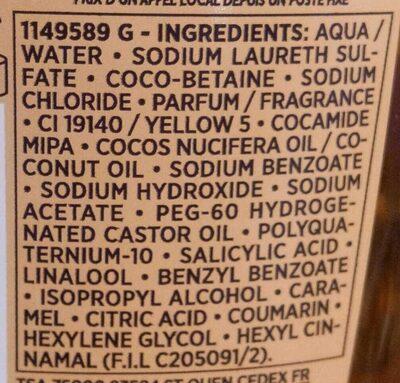 Shampooing nutrition haute légereté - Ingrédients