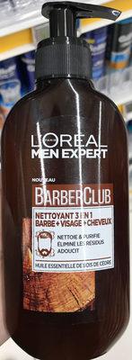 BarberClub Nettoyant 3 en 1 Barbe + Visage + Cheveux - Produit - fr