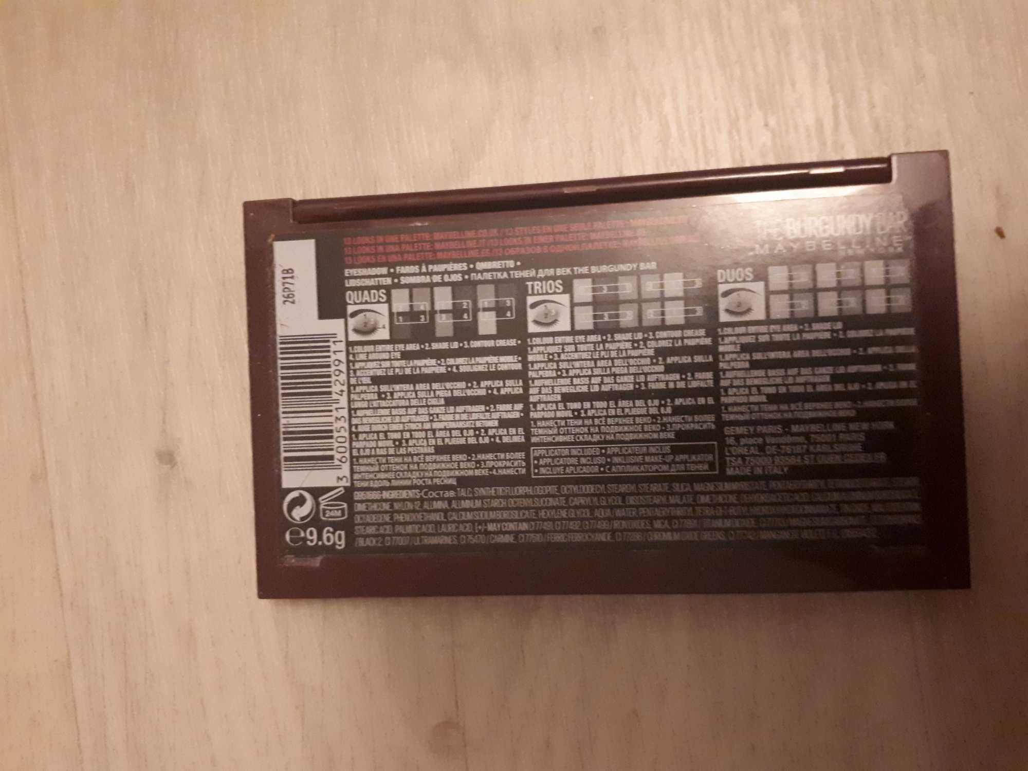 Maybelline Maybelline the Nudes Burgundy Eyeshadow Palette 9.6G - Product