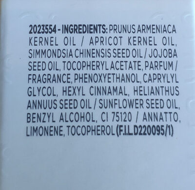 Apricot nail & cuticle oil - Ingredients - en