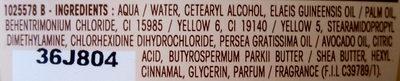 Ultra Doux à l'huile d'avocat et beurre de karité - Ingrédients