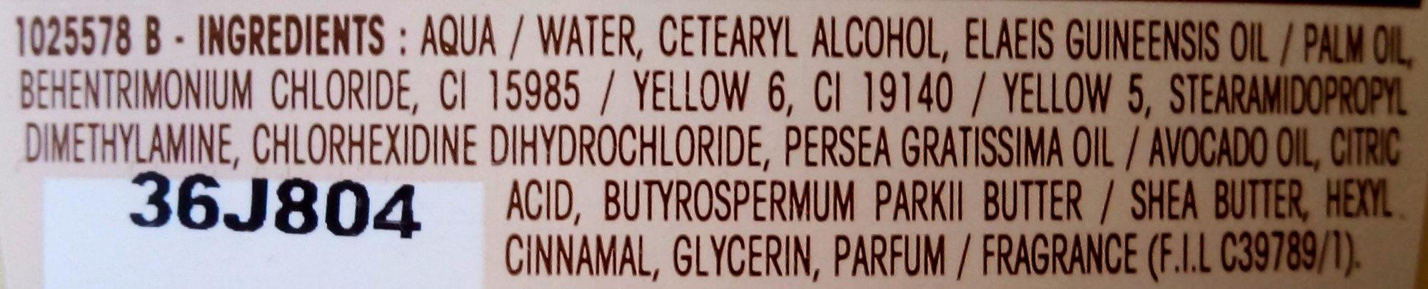 Ultra Doux à l'huile d'avocat et beurre de karité - Ingredients - fr