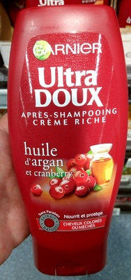 Ultra Doux Après-shampooing Crème Riche Huile d'Argan et Cranberry - Produit