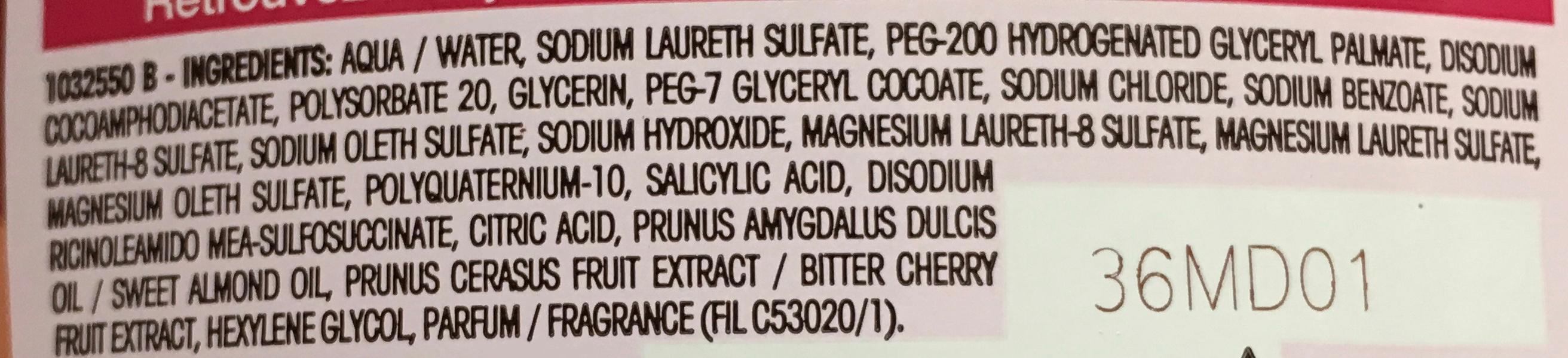 Ultra Doux Enfants Shampooing 2 en 1 à la cerise et amande douce - Ingrédients - fr