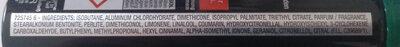 Garnier Men Deodorant mineral - Ingredients - de