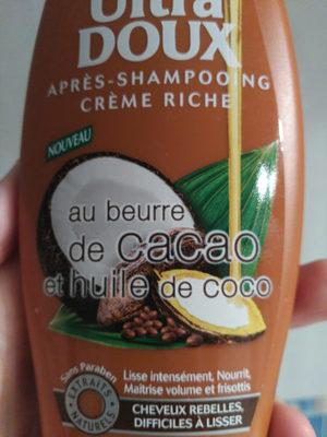 Après shampooing crème riche au beurre de cacao et huile de coco - Product - en