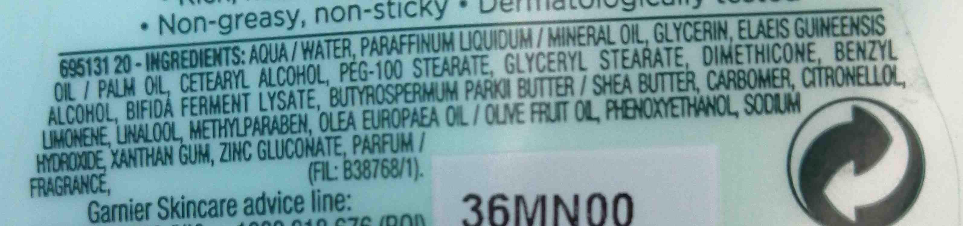Garner body - Ingredients - en