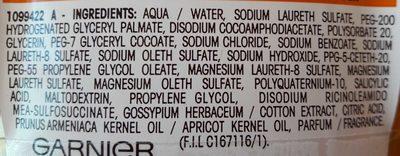 Shampooing 2 en 1 - Ingrédients