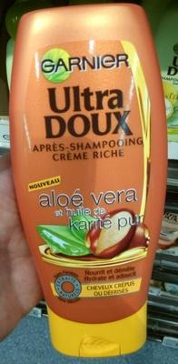 Ultra Doux Après-shampooing crème riche Aloé vera et huile de karité pur - Product - en