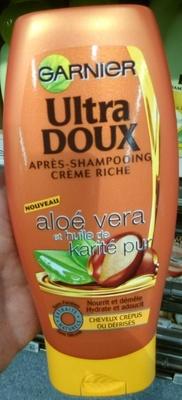 Ultra Doux Après-shampooing crème riche Aloé vera et huile de karité pur - Produit