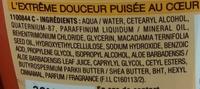 Ultra Doux Après-shampooing crème riche Aloé vera et huile de karité pur - Ingrédients