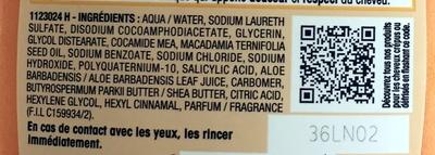 Ultra Doux Shampooing Crème Riche Aloé Vera et Huile de Karité Pur - Ingrédients