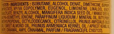 Fructis Wunder Öl-Spray - Ingrédients - de