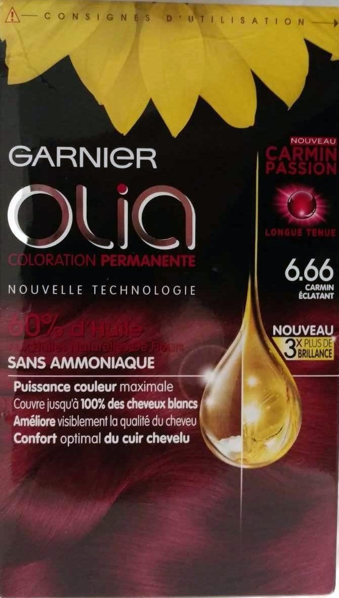 Olia coloration permanente 6.66 carmin éclatant - Product - fr