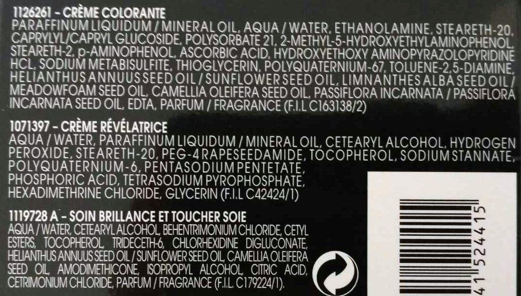 Olia coloration permanente 6.66 carmin éclatant - Ingredients - fr