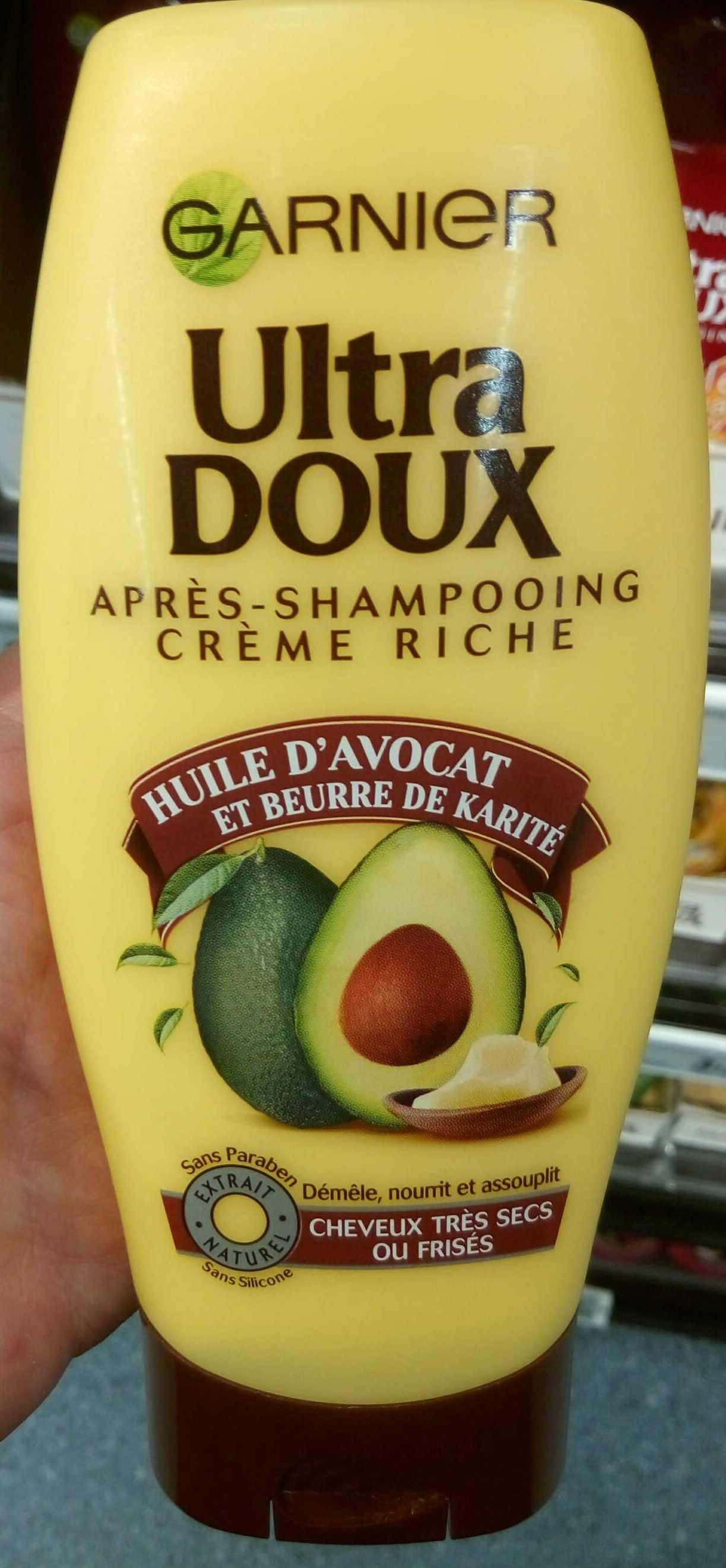 Ultra Doux Après-shampooing Crème Riche Huile d'avocat et Beurre de Karité - Product - fr