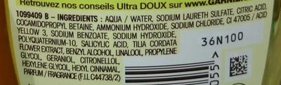 Ultra Doux Shampooing à l'extrait de tilleul - Ingredients - fr