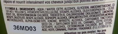 Ultra Doux Après-shampooing Nutrition Extrême Olive Mythique - Ingredients
