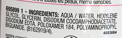 Solution Micellaire Tout en 1 Peaux Sensibles - Ingredients