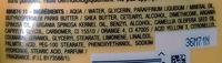 Corps Lait hydratant Huiles merveilleuses Argan & Camélia - Ingredients