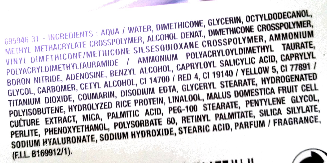 Miracle Wake Up Crème Anti-Âge défatigant - Ingredients