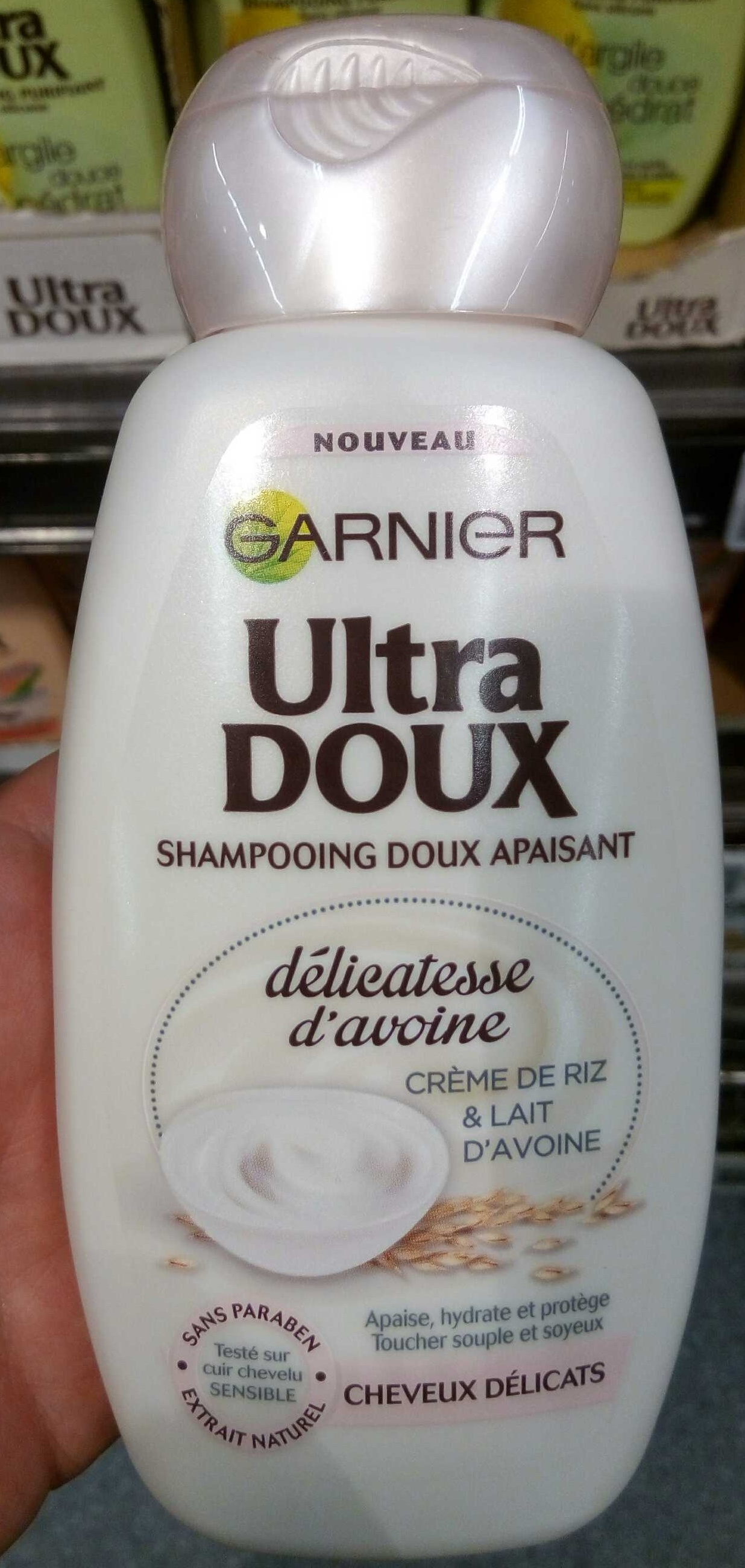ultra doux shampooing doux apaisant d licatesse d 39 avoine garnier 250 ml. Black Bedroom Furniture Sets. Home Design Ideas