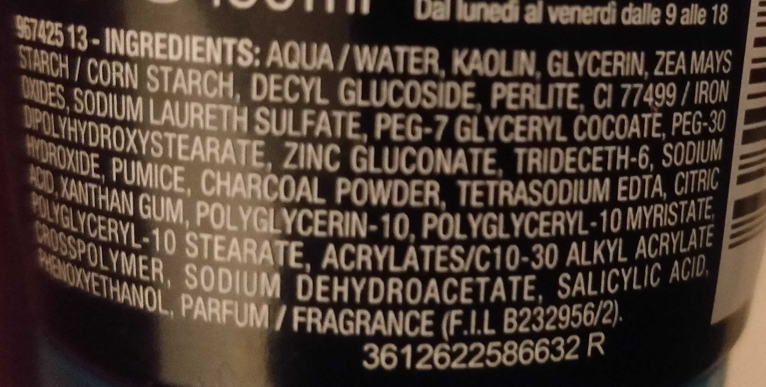 Pure Active 3 in 1 carbone - Ingredients - it