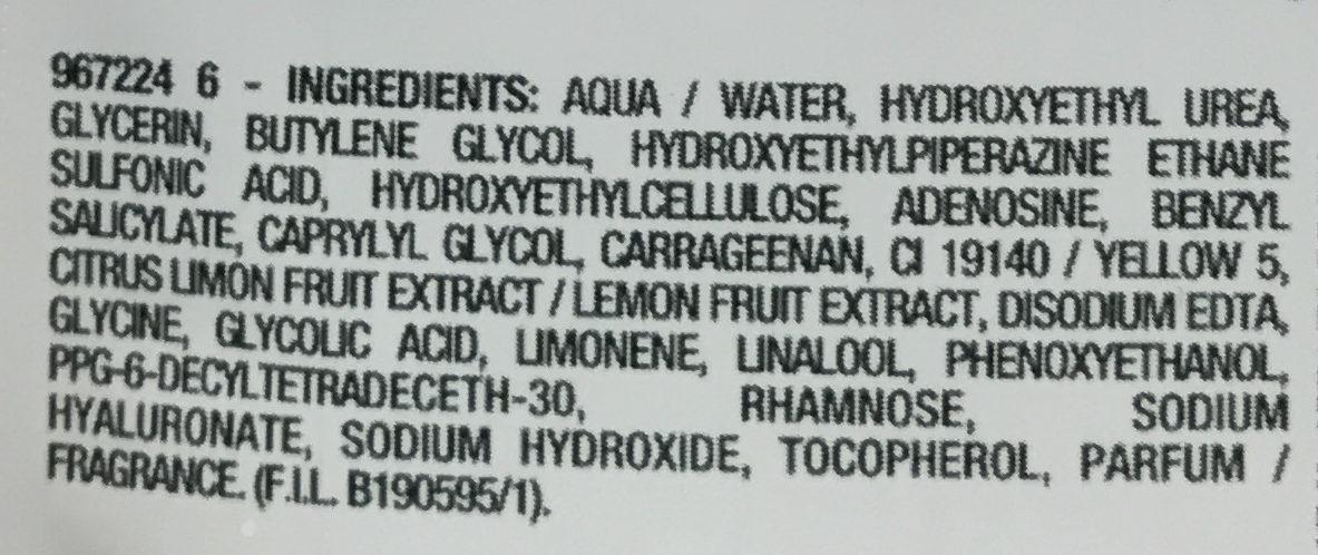 Juicy Mask Radiance / Éclat - Ingrédients