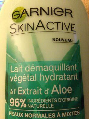 Lait Démaquillant végétal hydratant à l'Extrait d'Aloe - Product - fr
