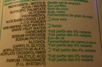 Lait Démaquillant végétal hydratant à l'Extrait d'Aloe - Ingredients