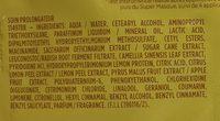 Fructis Super Masque - Ingredients - fr