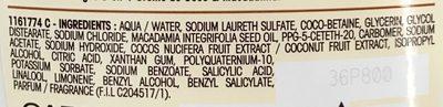 Ultra Doux Shampooing nourrissant Lait de Coco & Macadamia - Ingrédients