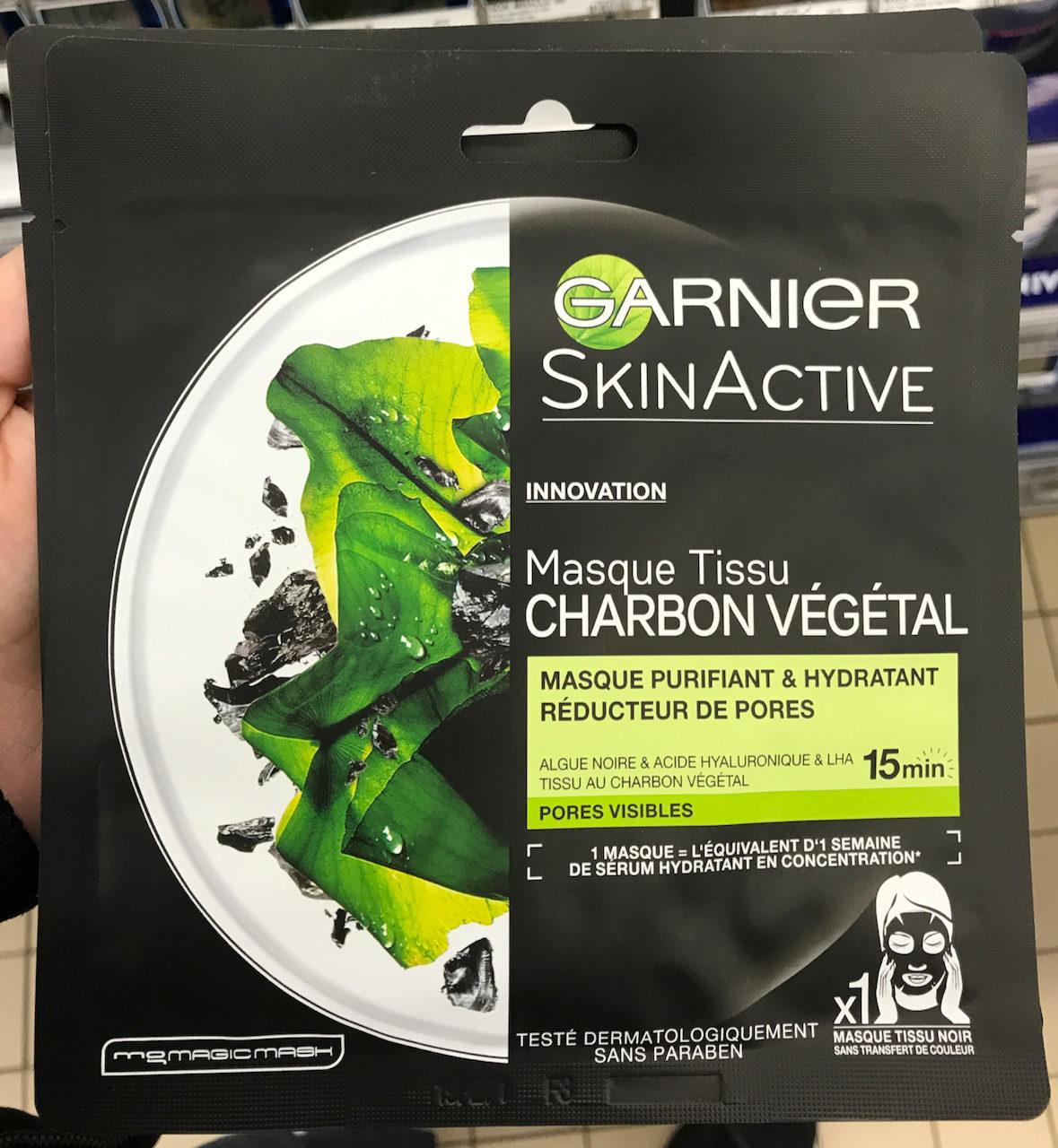 Skin Active Masque Tissu Charbon Végétal - Product - fr