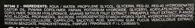 Skin Active Masque Tissu Charbon Végétal - Ingredients