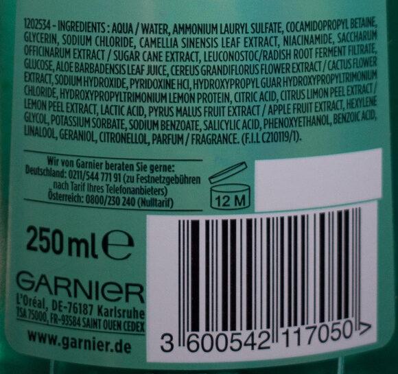 Aloe Hydro Bomb Kräftigendes Shampoo - Ingredients - de