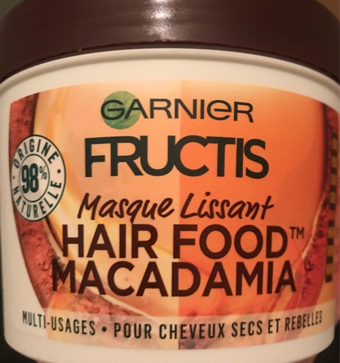 Masque lissant hair food macadamia - Product