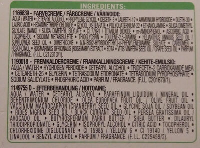 Nutrisse Cream 5.0 - Ingredients